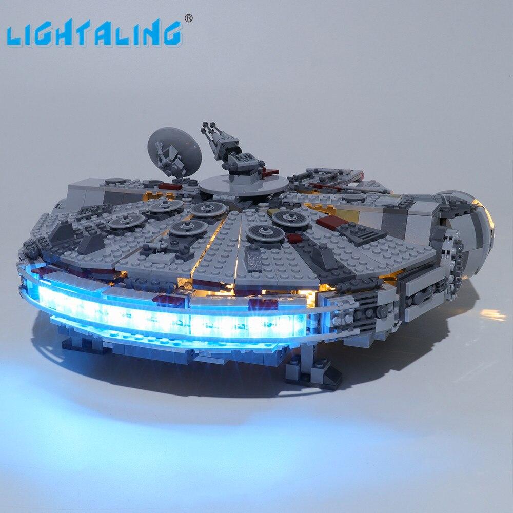 Lightaling Led Light Kit For 75257 Star war 2019 New Edition Millennium Building Blocks Compatible With Falcon LJ99022